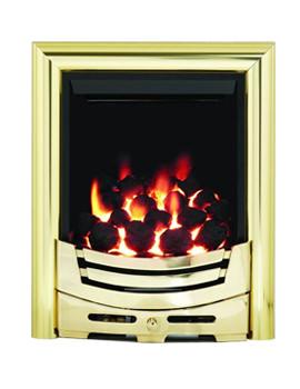 Be Modern Signum Full Depth Thermostat Inset Gas Fire Brass - 55131