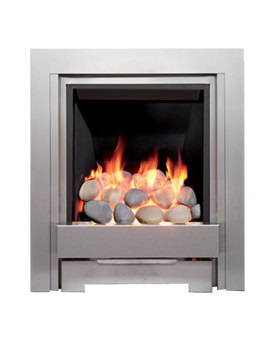 Be Modern Temptation Slimline Inset Gas Fire Brushed Steel - 46971