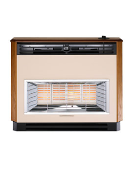 Brava Radiant Oxysafe Outset Top Control Gas Fire Mahogany - 0534711
