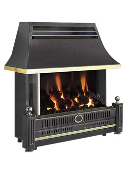 Renoir Outset Remote Control Gas Fire Black - FRECN0RN