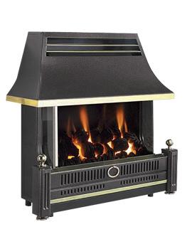 Renoir Outset Remote Control Gas Fire Black - FRECN0RN