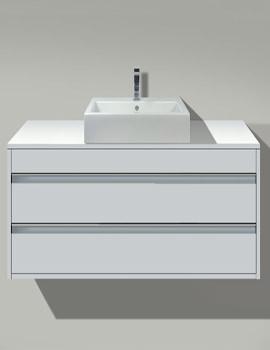 Starck 1 Basin 480mm On Ketho 1200mm Furniture - 044648 - KT 6656