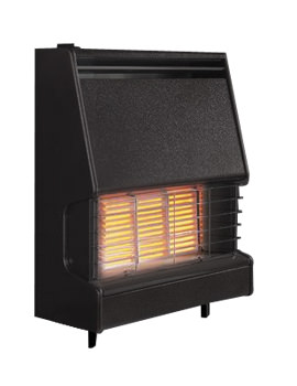 Firenza Radiant Top Control Outset Gas Fire Black - FFIRZ1MN