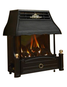 Emberglow Manual Control Outset LPG Gas Fire Black - FEMC00MN