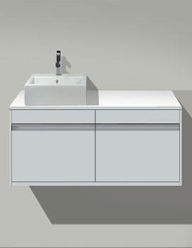 D-Code Vanity Basin 545mm On Ketho Furniture 1400mm - KT6797B1818