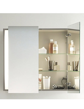 Ketho 800mm Double Door Mirror Cabinet - KT753101818