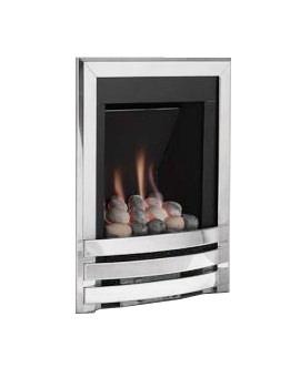 Windsor Manual Control Contemporary Gas Fire Silver-Pebble - FSRPU0MN
