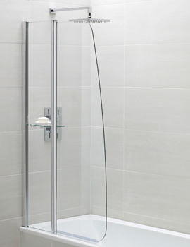 Identiti2 900 x 1400mm Sail Fixed Panel Bath Screen