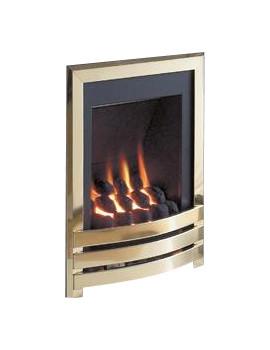 Flavel Windsor Manual Control Inset Gas Fire Brass-Coal - FSRCU1MN