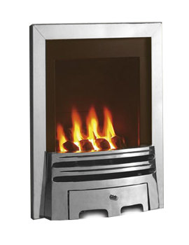 Windsor Manual Control Classic Inset Gas Fire Silver - FSRC3WMN