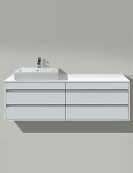 Starck 1 Washbowl 530mm On Ketho Furniture 1400mm - KT 6657 - 044753
