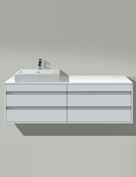 Vero Basin 500mm On Ketho Furniture 1400mm - KT 6657 - 045250