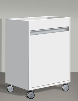 Duravit Ketho 500mm Single Door Mobile Storage Unit - KT2530L1818