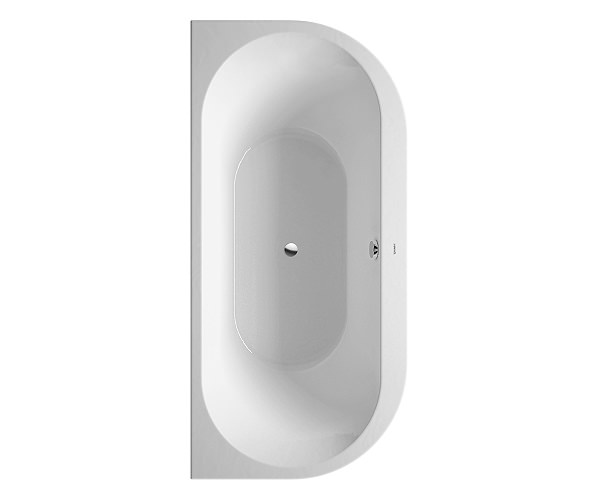 Large Image of Duravit Darling New Back-To-Wall Bathtub 1900x900mm White - 700248