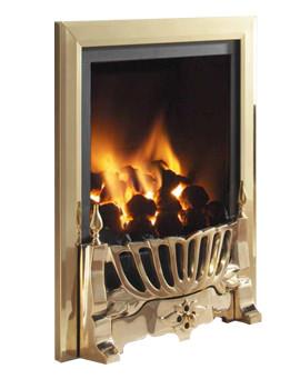 Flavel Kenilworth Manual Control Inset Gas Fire Brass - FRDC14MN