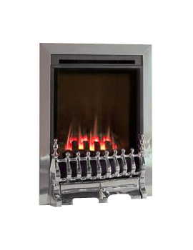 Flavel Windsor Slide Control Traditional HE Gas Fire Silver - FSHC3JSN