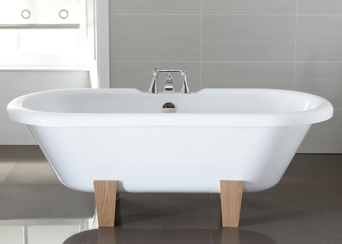 Large Image of April Skipton Thermolite Double Ended Freestanding Bath - 28A1711