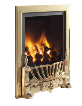 Flavel Kenilworth Manual Control HE Inset Gas Fire Brass - FHKC14MN2