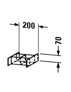 Duravit Esplanade Divider Box Drawer 373 x 200mm - ES 9922