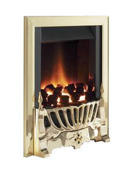 Flavel Warwick Manual Control Inset Gas Fire Brass - FIRC14MN