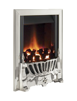 Flavel Warwick Manual Control Inset Gas Fire Silver - FIRC37MN