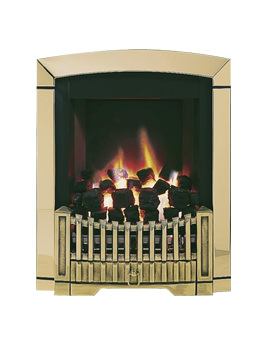 Flavel Melody Slimline Manual Control Inset Gas Fire Brass - FDRN45G