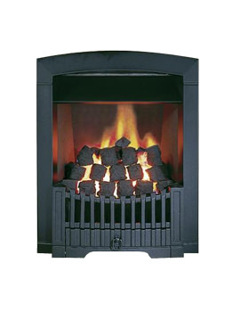 Flavel Rhapsody Slide Control Natural Gas Fire Black - FDCN57SN