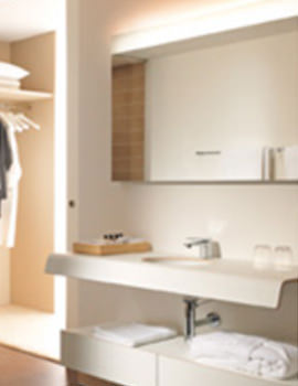Image of Duravit Onto Mirror With Lighting 40 x 1400mm - OT 7282