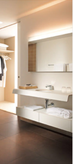 Large Image of Duravit Onto Mirror With Lighting 40 x 1400mm - OT 7282