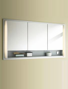 Duravit 1200mm 3 Door Mirror Cabinet And Wooden Opened Shelf - Built-in