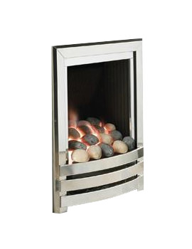 Linear Manual Control Full Depth Gas Fire Silver-Pebble - FRDPU0MN