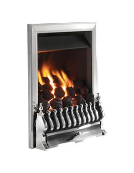 Flavel Richmond Slide Control Inset Gas Fire Silver - FICC37SN