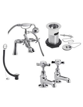 Related Ultra Beaumont Cranked Bath Shower Mixer Pack - I399X