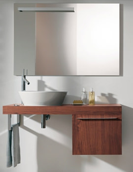 Related Fogo Mirror Cabinet 1200mm With Glass Under Floor Shelf - FO967901313