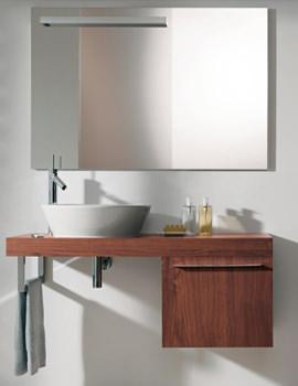 Fogo Mirror Cabinet 1200mm With Wooden Underfloor Shelf - FO 9678