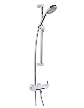 Tavistock Kinetic Thermostatic Bar Valve With Round Shower Handset