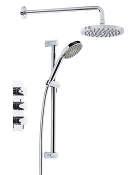 Triple Inline Thermostatic Shower Valve With Head And Handset