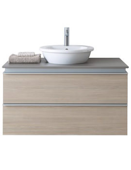 Related Duravit Bacino Square Basin With Darling New 1000mm Vanity Unit