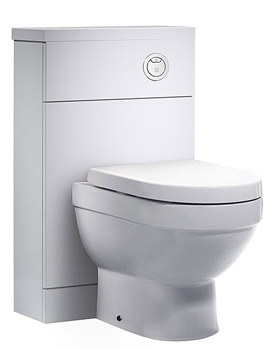 Kobe 500mm White Back To Wall WC Unit And Worktop - K5BTWW