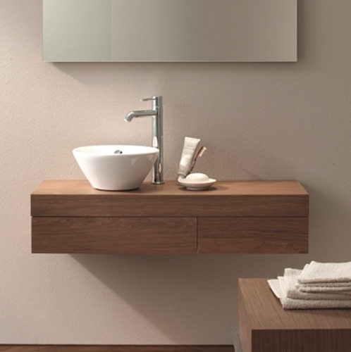 Large Image of Duravit Fogo Console Including Drawer 360 x 1200mm Macassar - FO837702424