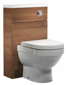 Kobe 500mm Walnut Back To Wall WC Unit And Worktop-K5BTWAW