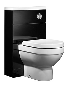 Image of Tavistock Kobe 500mm Black Back To Wall WC Unit And Worktop - K5BTWBK