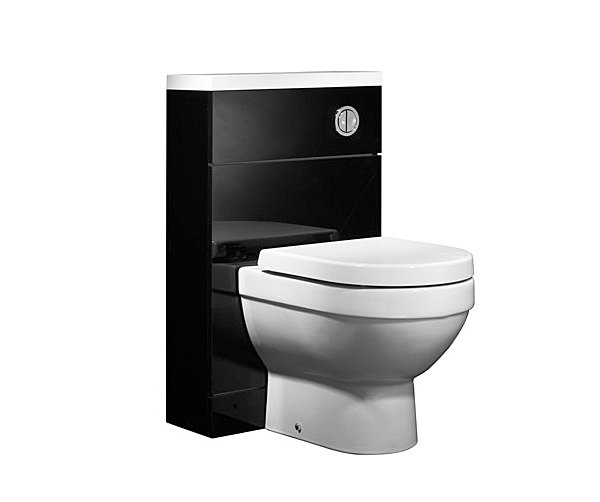 Large Image of Tavistock Kobe 500mm Black Back To Wall WC Unit And Worktop - K5BTWBK