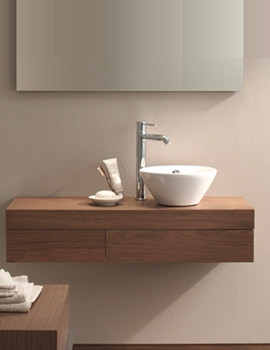 Image of Duravit Fogo Console Including Drawer 360 x 1300mm Macassar - FO838002424