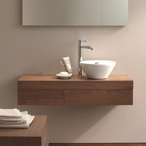 Large Image of Duravit Fogo Console Including Drawer 360 x 1300mm Macassar - FO838002424