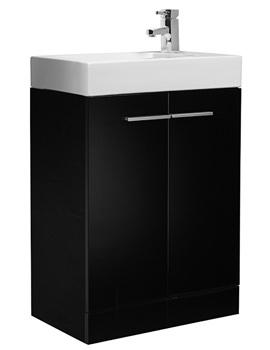 Related Tavistock Kobe 560mm Black Floorstanding Unit And Basin - K56FBK