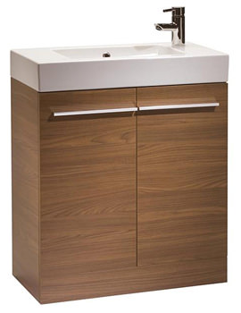 Kobe 700mm Walnut Floorstanding Unit And Basin - K70FAW