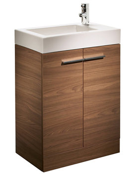 Kobe 560mm Walnut Floorstanding Unit And Basin - K56FAW