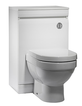 Image of Tavistock Groove 500mm White Back To Wall WC Unit - GR5BTWW
