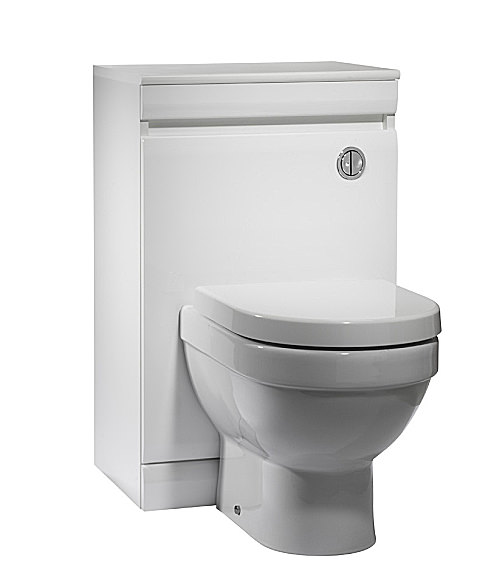 Large Image of Tavistock Groove 500mm White Back To Wall WC Unit - GR5BTWW
